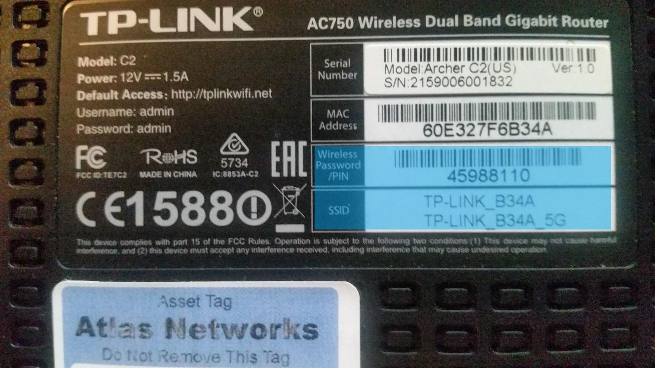 TP-Link Label